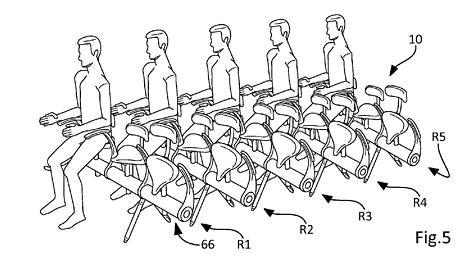 Airbus Operationsin visioissa lentokoneeseen mahtuisi enemmän matkustajia. Kuva yhtiön patenttihakemuksesta.