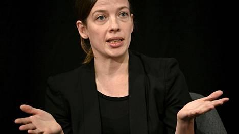 Opetusministeri Li Andersson (vas) kuvattiin Kuntaliiton puheenjohtajapaneelin yhteydessä keskiviikkona.