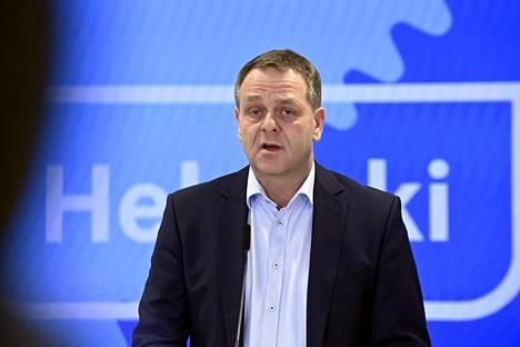 Helsingin pormestari Jan Vapaavuori huhtikuussa 2021.