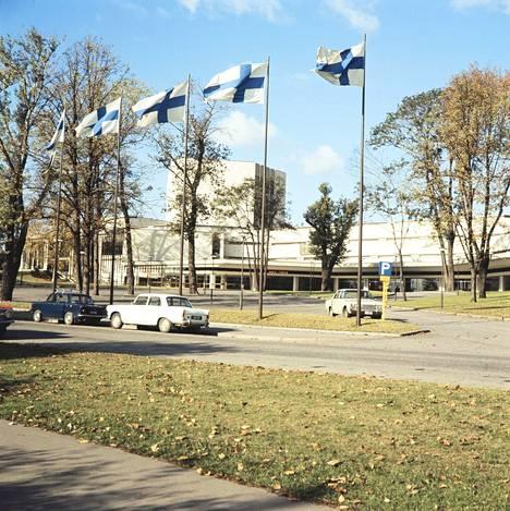 Helsingin kaupunginteatteri vihittiin käyttöön syksyllä 1967. Kirjan kuvitusta.