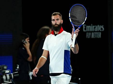 Benoit Paire ATP-turnauksessa Melbournessa helmikuun alussa.