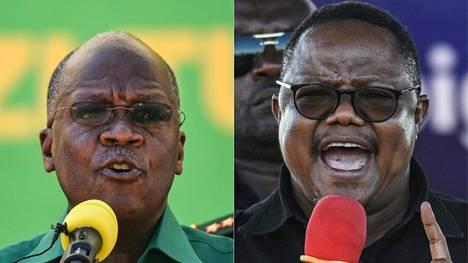 Presidentti John Magufuli ja haastaja Tundu Lissu kilpailivat keskiviikkona Tansanian presidentinvaaleissa. Samalla järjestetään myös parlamenttivaalit.