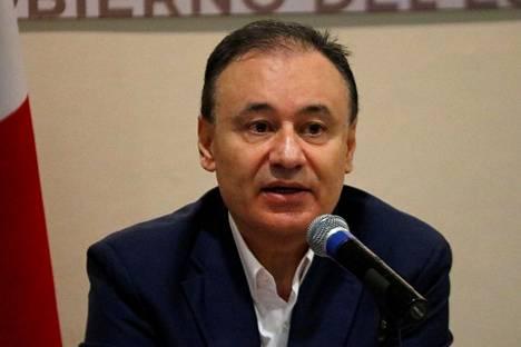 """Meksikon turvallisuusministeri Alfonzo Duranzo kutsui Ovidio Guzmanin kiinniottoyritystä """"epäonnistumiseksi"""" tiedotustilaisuudessa Culiacánissa 18. lokakuuta."""
