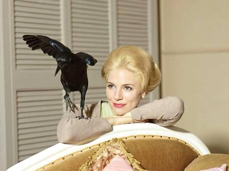 Sienna Miller näyttelee Linnut-elokuvan piinattua tähteä Tippi Hedreniä.