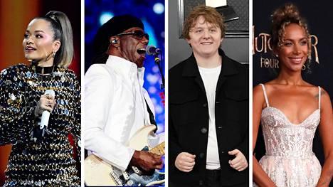 Useat Britannian musiikkialan toimijat artisteista levy-yhtiöihin ovat allekirjoittaneet avoimen kirjeen rasismin kitkemiseksi. Kannanoton ovat allekirjoittaneet muiden muassa Rita Ora (vas.), Nile Rodgers, Lewis Capaldi ja Leona Lewis.