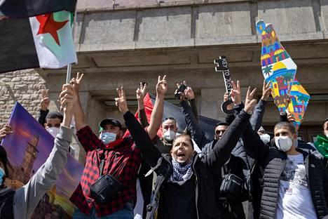 Berliinin Palestiina-mielenosoitus oli protesti viikon tapahtumille ja samalla 73 vuotta jatkuneelle miehitykselle.