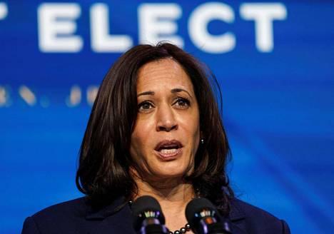 Yhdysvaltain tuleva varapresidentti Kamala Harris kuvattuna Delawaressa 8. tammikuuta.