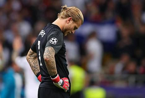 Loris Karius oli pettynyt Mestarien liigan loppuottelun päätyttyä.