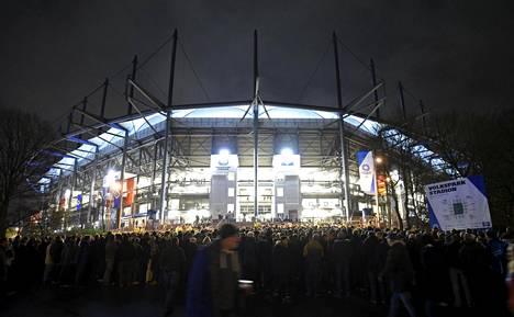 Yksi Hampurin kisapaikoista olisi todennäköisesti ollut paikallisen HSV-jalkapallojoukkueen kotistadion Volksparkstadion.
