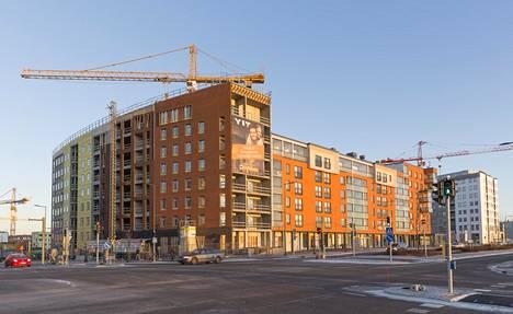 Uusien asuntojen tarjonta on kasvanut tasaisesti ympäri pääkaupunkiseutua. Kuva Vantaan Kivistöstä.