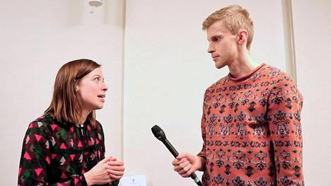 Li Andersson tubettaja Roni Backin haastattelussa aiemmin maaliskuussa.