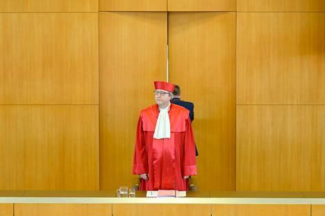 Saksan perustuslakituomioistuimen puheenjohtaja Andreas Voßkuhle.