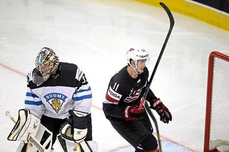 Brock Nelson juhli, Pekka Rinne harmitteli USA:n avausmaalia.