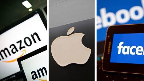 Digitaalisia yhtiöitä, kuten Amazonia, Applea ja Facebookia, halutaan verottaa tehokkaammin.