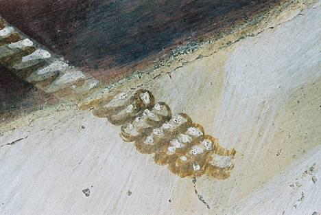 Yksityiskohta Tacita Deanin 33-minuuttisesta teoksesta Buon Fresco (2014). Se on kuvattu Pyhän Fransiskuksen ylemmässä basilikassa, jonne Giotto maalasi freskoja.