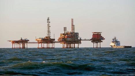 Öljynporauslauttoja Pohjanmeressä. Kuva vuodelta 2015.