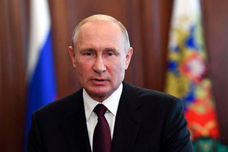 Venäjän presidentti Vladimir Putin kesäkuussa 2020.