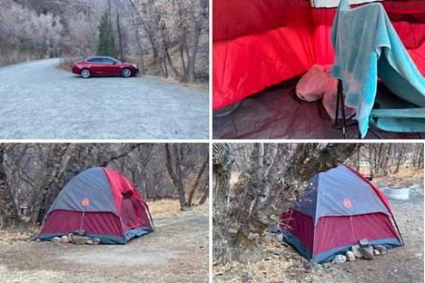 Kadonnut löytyi teltasta, kun etsintään käytetty lennokki iskeytyi maahan.