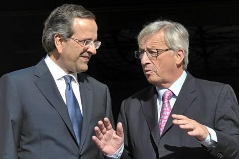 Kreikan pääministeri Antonis Samaras ja euroryhmän puheenjohtaja Jean-Claude Juncke tapasivat keskiviikkona Ateenassa.