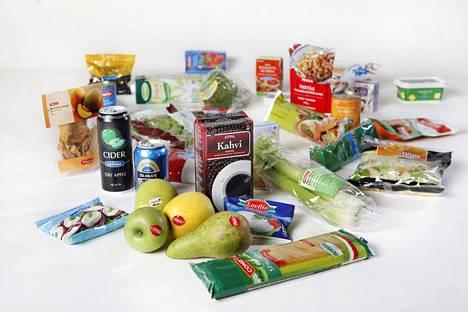 Kaupan omia merkkejä ovat muun muassa K-kauppojen Pirkka-tuotteet, S-kauppojen Rainbow- ja Kotimaista-tuotteet ja suuri osa Lidlin tuoitteista.