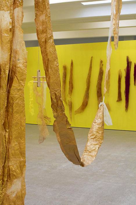 Näkymä Astrid Svangrenin näyttelystä.