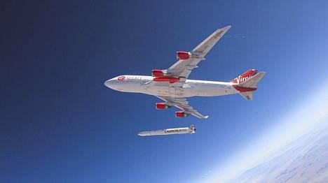 Virgin Orbit-yhtiön raketin laukaisua testattiin ensi kertaa heinäkuussa 2019.