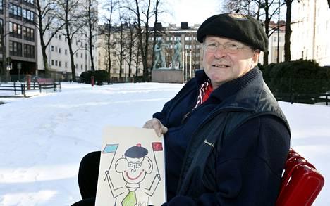 Demarin entinen päätoimittaja Kari Arola piirsi itse Herraduunari-kirjansa kannen kuvan.