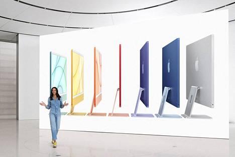Apple esitteli tiistaina uusia Imac-pöytätietokoneitaan.