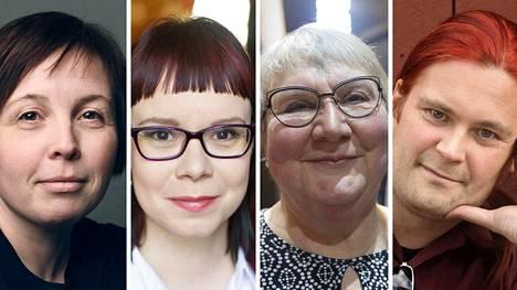 Karin Erlandsson (vas.), Terhi Rannela, Anneli Kanto ja Jani Saxell.