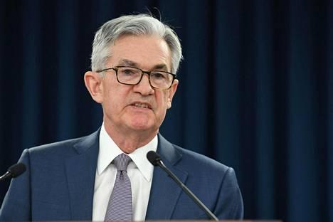 Yhdysvaltojen keskuspankin pääjohtaja Jerome Powell.