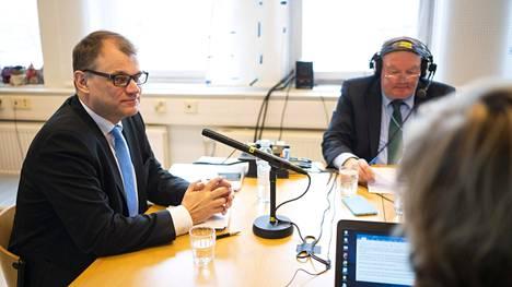 Pääministeri Juha Sipilän (kesk) haastattelutunti pidettiin sunnuntaina Lahdessa.