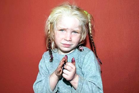 Kreikan poliisin viime viikolla julkistama kuva löydetystä nelivuotiaasta Maria-tytöstä.