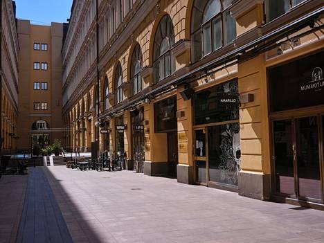 HOK-Elannon Mummotunneliin Helsingissä aletaan rakentaa terasseja, jotka aukeavat kesäkuussa.
