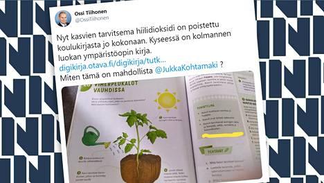 Ruutukaappaus lohjalaisen Ossi Tiihosen twiitistä.