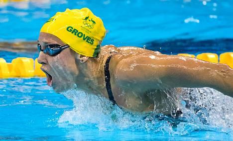 Madeline Groves perhosteli 200 metrin olympiahopeaa Rio de Janeirossa 2016.