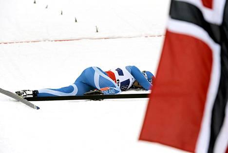 Suomen ankkurina hiihtänyt Riikka Sarasoja-Lilja antoi kaikkensa.