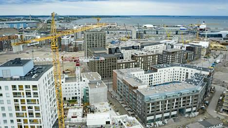 Jätkäsaaren kaupunginosa Helsingissä on edelleen rakenteilla.