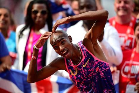 Mo Farah on 2010-luvun paras kestävyysjuoksija maailmassa. Britti tähtää jälleen kahteen mestaruuteen Lontoossa, jonne myös hän Usain Boltin tapaan päättää uransa.
