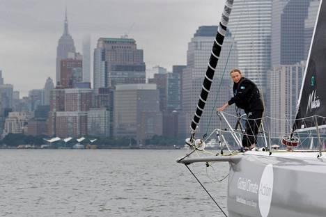 Greta Thunberg matkusti Malizia II purjeveneellä New Yorkin satamaan elokuun lopulla.