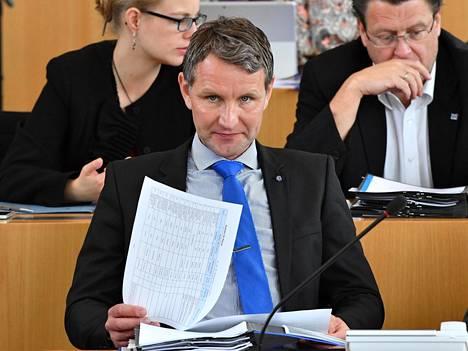 Kansanedustaja Björn Höcke oli viime vuonna lakkautetun AfD:n äärioikeistolaisen siiven kantavia voimia.