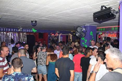 Butterfly-disko Playa de las Américasissa Teneriffalla. Päiväämätön arkistokuva discon nettisivulta.