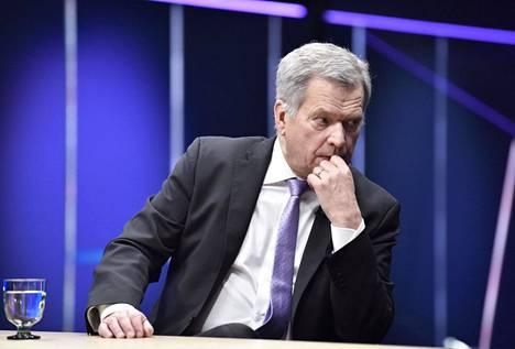 Presidentti Sauli Niinistö yllätti hallituksen 13. maaliskuuta sanomalla tp-utvan kokouksessa, että poikkeusolojen olemassaolo oli nyt hänen puolestaan todettu. Kuva otettu 22. helmikuuta.