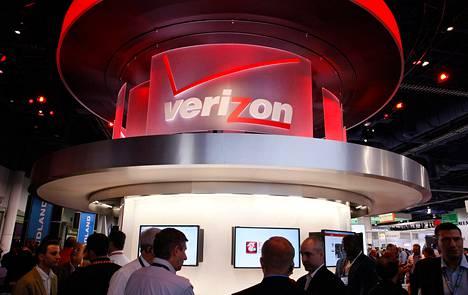 Puhelinoperaattori Verizonin tiski kulutuselektroniikkamessuilla Las Vegasissa tammikuussa.