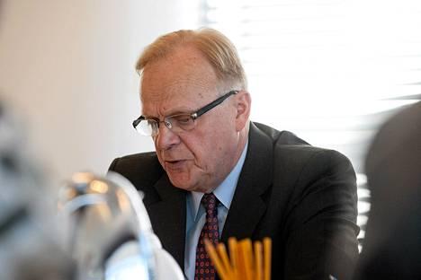 Työministeri Lauri Ihalainen puhui EK:n keskustelutilaisuudessa tänään.