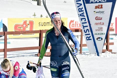 Krista Pärmäkoski osallistui ensimmäistä kertaa tällä kaudella SM-hiihtoihin.