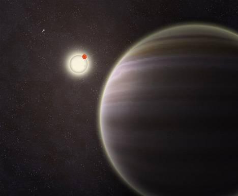 Taitelijan näkemys PH1-planeetasta.