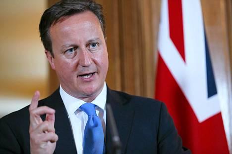 Britannian pääministeri David Cameron