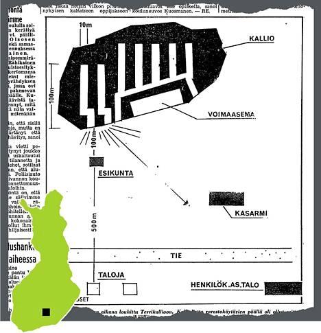 HS:n alkuperäisessä grafiikassa näkyy luolaston rakenne ja sen mittakaava.