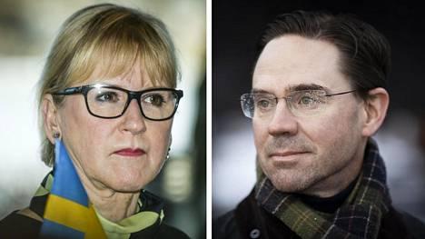 Margot Wallström ja Jyrki Katainen