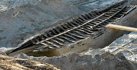 Tallinnan Kadriorgin kaupunginosasta löytyi keskiaikaisten laivojen jäänteitä.